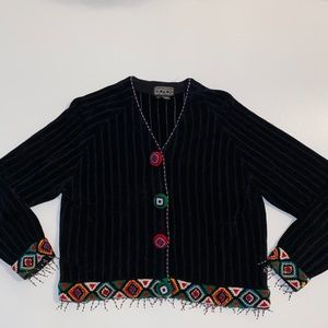 Berek 2 by Takako Sakon Native American Cardigan L